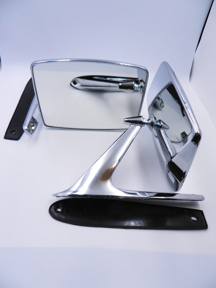 Par Espejos Camioneta Antigua O Clasica Rectangular Metal