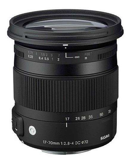 Lente Sigma 17-70mm F2.8-4 Dc Macro Os Hsm Nikon 12x S/juros