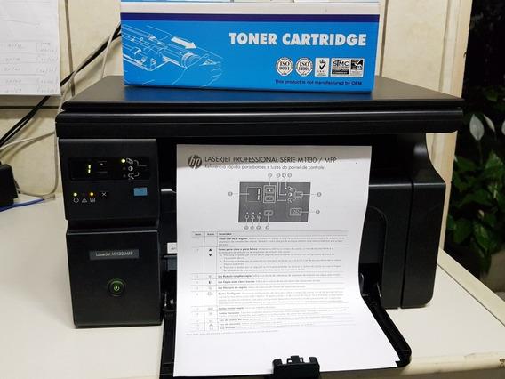 Multifuncional Laser Hp M1132 + Toner Novo Compatível