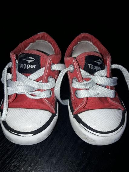 Zapatillas Niño/niña Topper Lona Muy Buen Estado!oportunidad