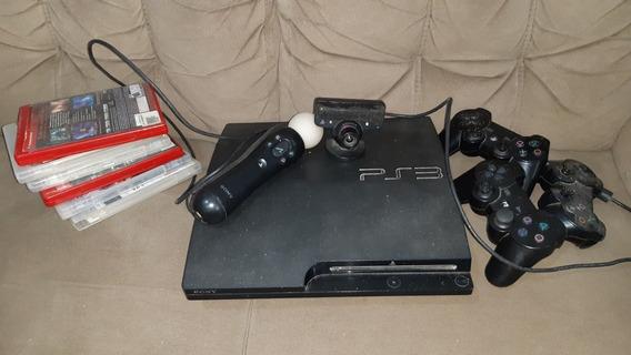 Ps3 - Com Kinect - Dois Controles