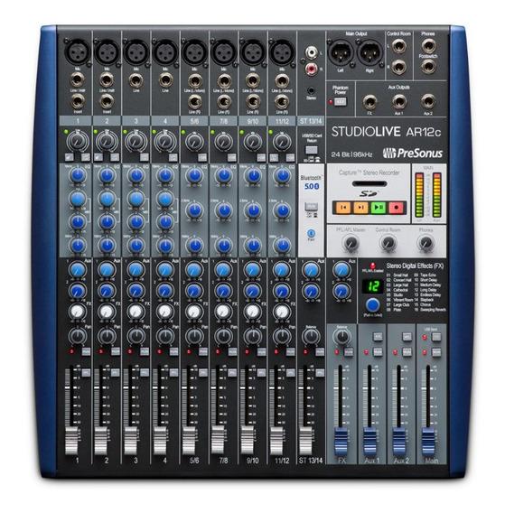 Mesa Mixer Presonus Interface De Gravaçao Studiolive Ar12c