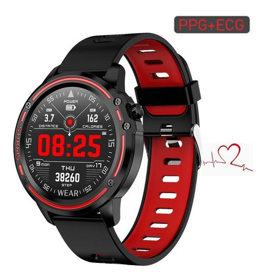 Relógio Inteligente L8 Bluetooth Esporte Vermelho