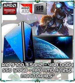 Cpu Pc Gamer A10 9700 Quad Core 3.5ghz 4gb Ddr4 Tela 18