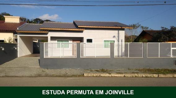 Linda Casa Em Itapocu - Joinville/sc | Rua Asfaltada | Estuda Permuta - Sa01000 - 34403458