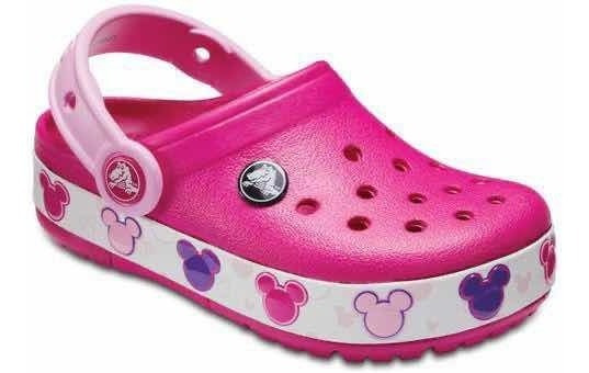 Crocs Originales Funlab Mickey Luces Rosa Nena Nuevas