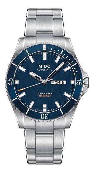 Relógio Mido Ocean Star M0264301104100 Azul Automatico