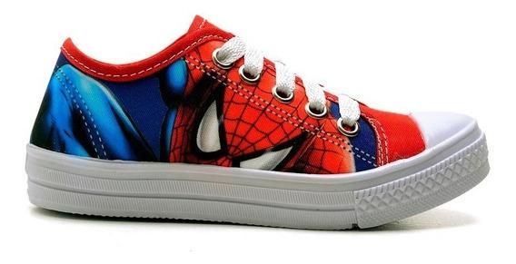 Tenis Sapato Infantil Masculino Homem Aranha Personagem
