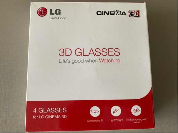 4 Óculos 3d Passivos Lg Originais