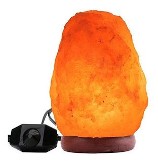 Lampara De Sal Natural Del Himalaya De 17 A 20 Cms De 2 A 3 Kgs Con Control De Intensidad De Luz