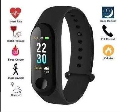 Relógio Monitor Cardíaco Pressão Queima Calorias Sono 4,5cm