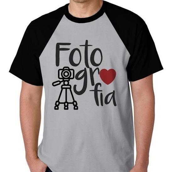Camiseta Raglan Unissex Faculdade Fotografia Blusa Camisa