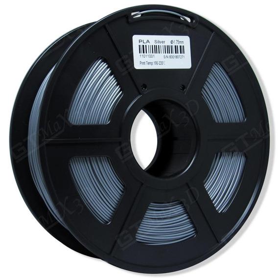 Filamento Pla Plus Prata - 1.75mm - 1kg
