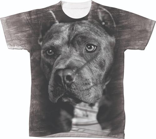 Imagem 1 de 2 de Camiseta Camisa Blusa Personalizada Cachorro Pit Bull 05