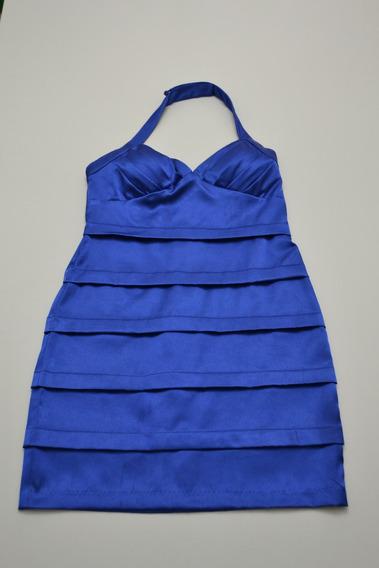 Vestido De Fiesta Azul Eléctrico Roberta Importado