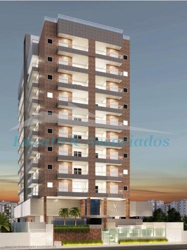 Apartamento Para Venda Na Guilhermina Em Praia Grande Sp, 03 Dormitórios Sendo 01 Suíte, Sala, Sacada Com Churrasqueira, 02 Vagas - Ap02061 - 68237186