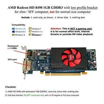 Placa De Vídeo Hp Amd Radeon Hd 8490 1gb Ddr3 Low Profile