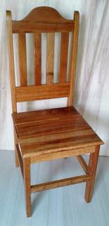 2 Cadeiras Em Madeira Angelim Pedra Verniz Pu