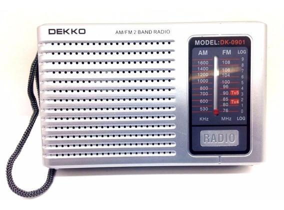 Radio Portatil Am/fm/tv Audio Radio 2 Band Analógico Dekko