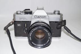 Câmera Canon Ftb Ql Analógica Com Lente 50mm 1:1.8 Década 70