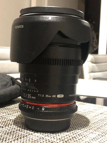 Lente Rokinon 35mm T1.5 Cine As Para Canon Ef - Aceito Trova