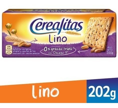Galletitas Cerealitas Lino 200grs