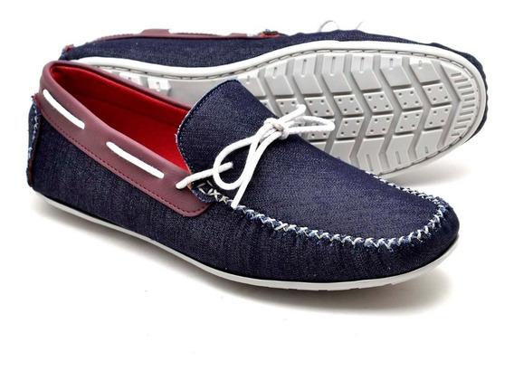 Sapato Mocassim Masculino 100% Couro Casual Confort Novo