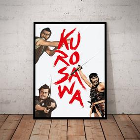 Quadro Akira Kurosawa Cinema Arte Poster Moldurado