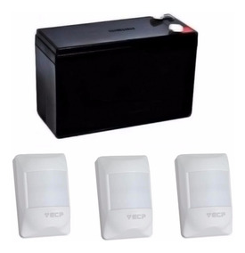 Kit Sensor Infravermelho Sem Fio Ecp + Bateria 12v 7ha