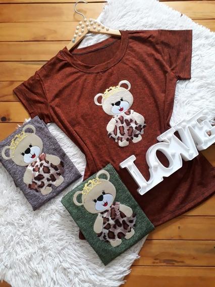 Blusas Femininas T-shirts 2 Unidades / Malha Track
