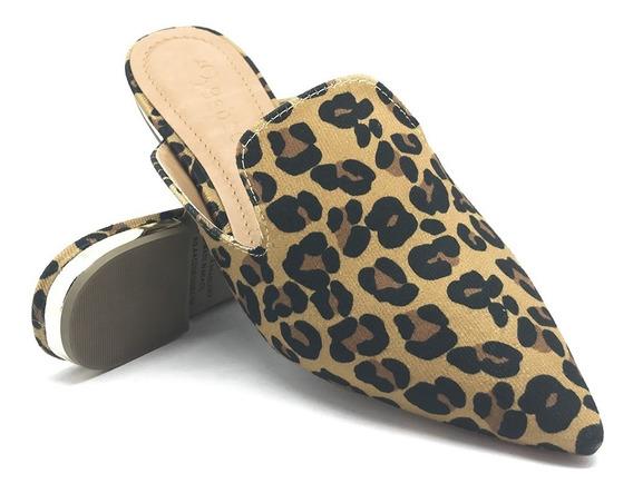 Sapato Mule Bico Fino Bebecê Onça - Ref. 2016-237