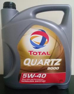 Aceite Total Quartz 9000 Sintetico 5w40 4litros Nafta Diesel