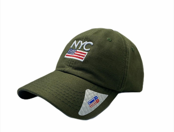 Boné Aba Curva Strapback Nyc New York City Bordado