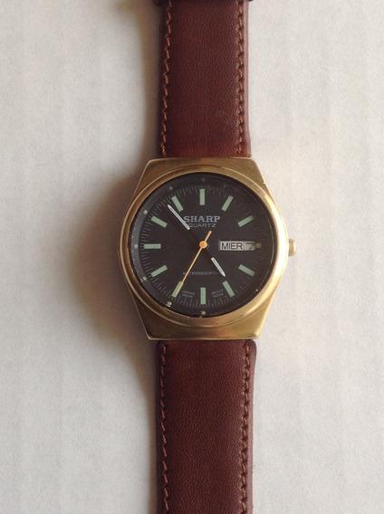 Reloj Sharp Cuarzo. Doble Fechador