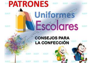 Patrones Uniforme Escolar Camisa Pantalón Short Envío Gratis