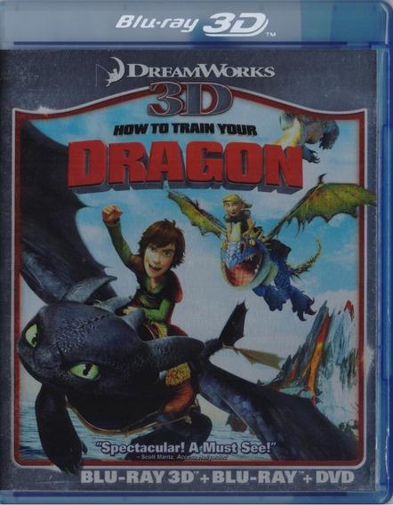 Como Entrenar A Tu Dragon Pelicula Blu-ray 3d + Bd + Dvd