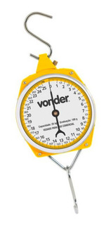 Balança Suspensa Tipo Relógio 25 Kg Vonder Acompanha Gancho