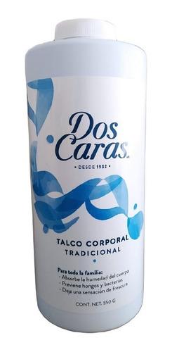 Talco Dos Caras Tradicional Bote De 550 Grs - 1 Pieza