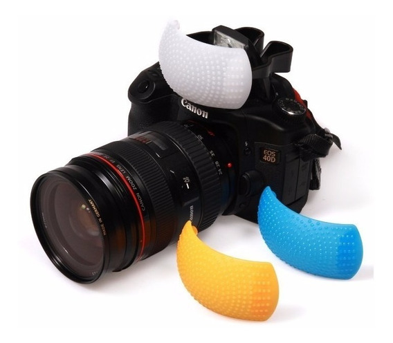 Difusor Flash Dslr 3 Cores Universal P/ Canon Nikon Pentax