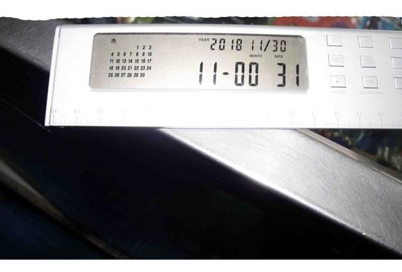 Regla Escritorio Reloj Con Calculadora Y Calendario