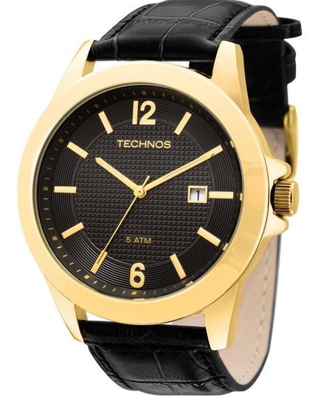 Relógio Technos Masculino Classic Steel Dourado 2115kno/2p