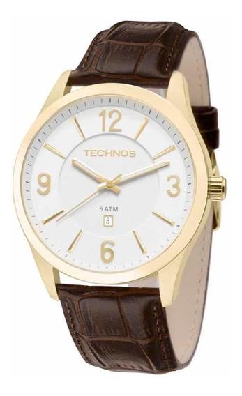 Relógio Masculino Technos Couro Steel 2015bze/2b Promocao