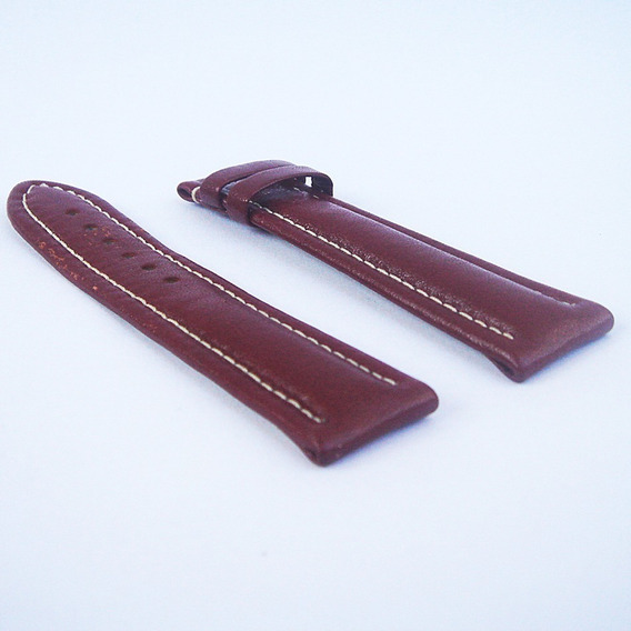 Pulseira De Couro Marrom Relógio Masculino Breitling - 20mm #01