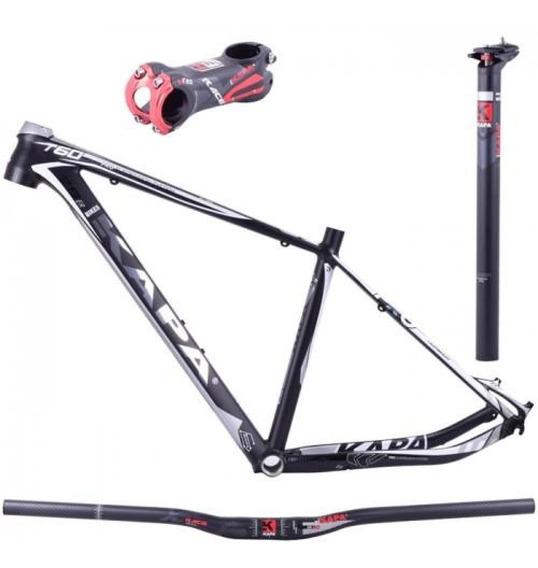 Kit Quadro Aro 29 T60 Tamanho 17,5 Preto E Branco Kapa Bikes