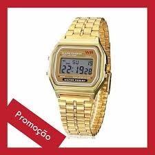 Relógio Casio Dourado Casio Unissex C/ Caixa Acrilica