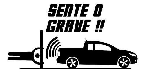 Imagem 1 de 2 de Adesivo Carro Som Automotivo Potente Sente O Grave 25cm