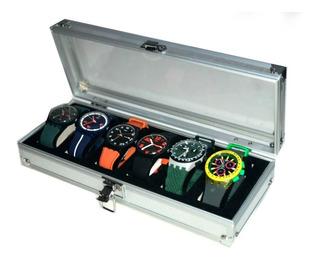 Caja Organizadora De Relojes En Aluminio ,exclusiva