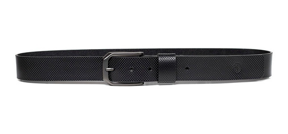 Cinturón De Piel Para Hombre Con Acabado Perforado