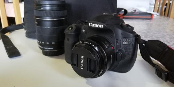 Canon 60d Com 2 Lentes E Mochila 11500 Clicks