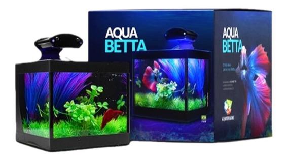 Aquário Beteira Aquabetta Com Iluminação Bivolt E Decoração